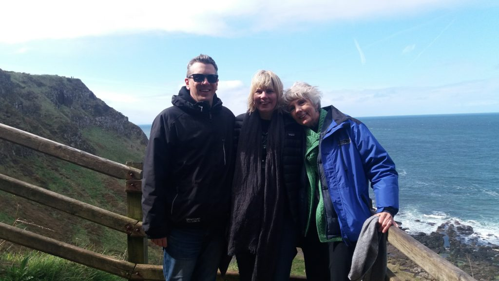 My mom and brother came right after surgery to make sure I was ok. After a few days' rest for me, we took them up north to the Giant's Causeway!